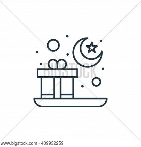 gift icon isolated on white background from islam and ramadan collection. gift icon thin line outlin