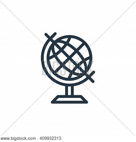 geography icon isolated on white background from school collection. geography icon thin line outline