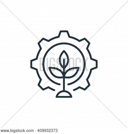 gear icon isolated on white background from smart farm collection. gear icon thin line outline linea