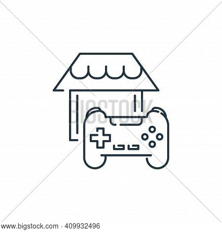 gaming icon isolated on white background from stay at home collection. gaming icon thin line outline