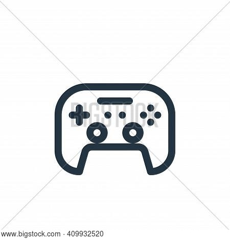 gamepad icon isolated on white background from virtual reality collection. gamepad icon thin line ou