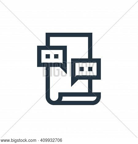 forum icon isolated on white background from job resume collection. forum icon thin line outline lin