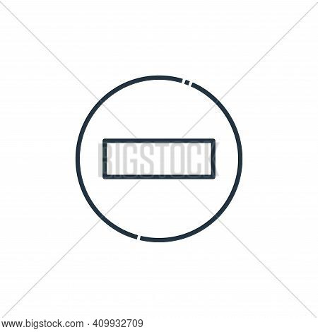 forbidden icon isolated on white background from signaling collection. forbidden icon thin line outl
