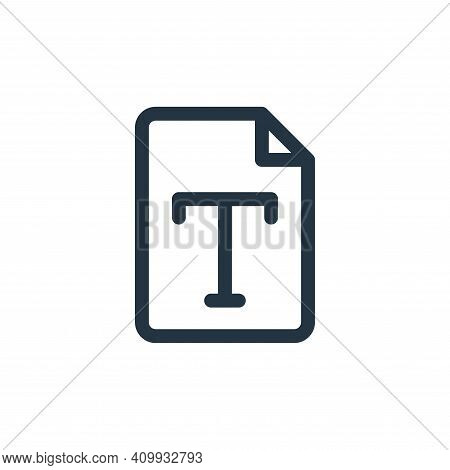 font icon isolated on white background from document and files collection. font icon thin line outli