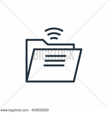 folder icon isolated on white background from internet of things collection. folder icon thin line o