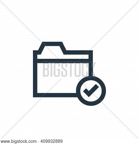 folder icon isolated on white background from job resume collection. folder icon thin line outline l