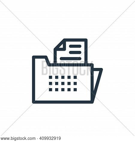 folder icon isolated on white background from business collection. folder icon thin line outline lin
