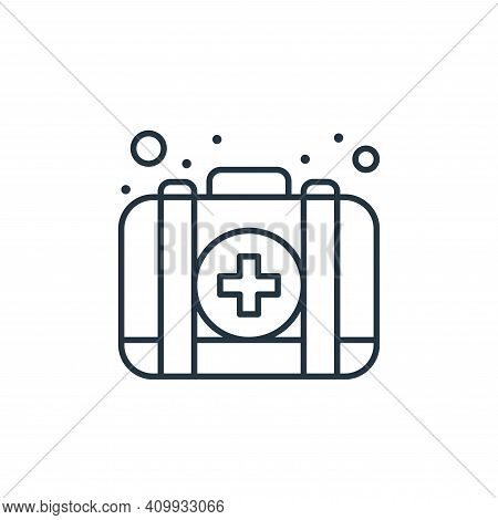 first aid kit icon isolated on white background from coronavirus collection. first aid kit icon thin