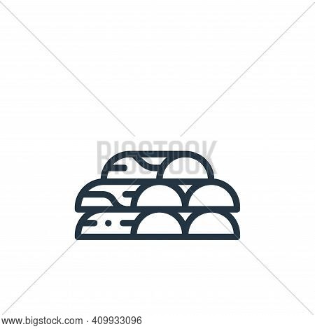 firewood icon isolated on white background from in the village collection. firewood icon thin line o