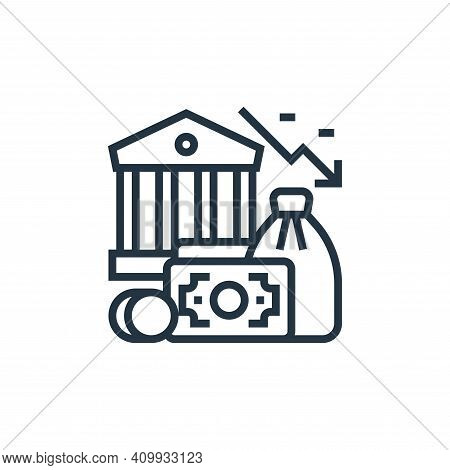 financial icon isolated on white background from economic crisis collection. financial icon thin lin