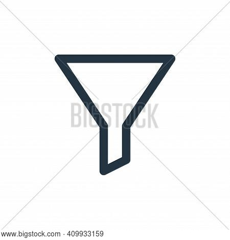filter icon isolated on white background from marketing business collection. filter icon thin line o