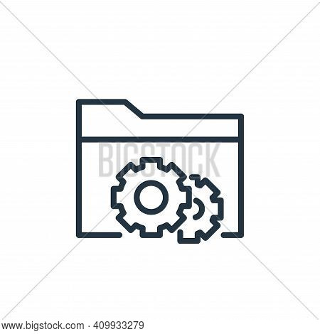 file management icon isolated on white background from engineering collection. file management icon