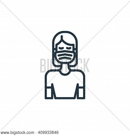 face mask icon isolated on white background from virus transmission collection. face mask icon thin