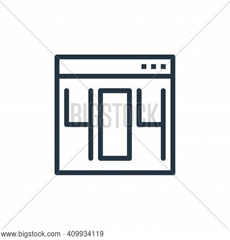 error icon isolated on white background from user interface collection. error icon thin line outline