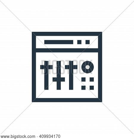 equalizer icon isolated on white background from electronics collection. equalizer icon thin line ou