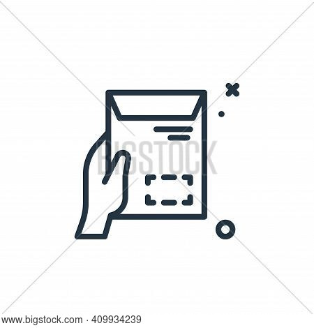 envelope icon isolated on white background from work from home collection. envelope icon thin line o