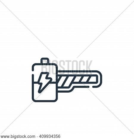 energy bar icon isolated on white background from videogame collection. energy bar icon thin line ou