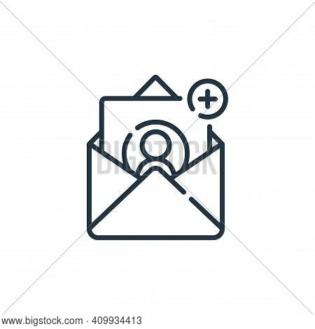 email icon isolated on white background from social media collection. email icon thin line outline l