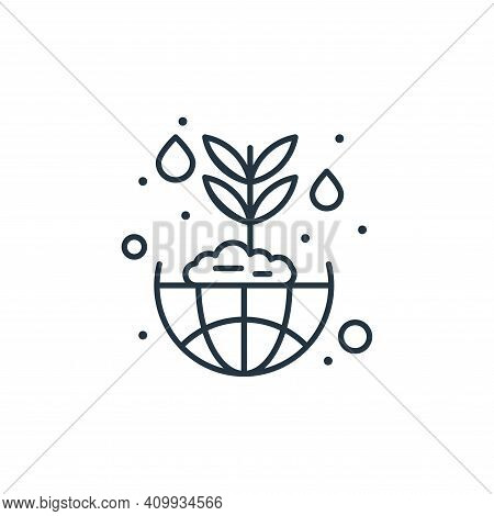 ecosystem icon isolated on white background from earth day collection. ecosystem icon thin line outl