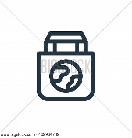 eco bag icon isolated on white background from mother earth day collection. eco bag icon thin line o