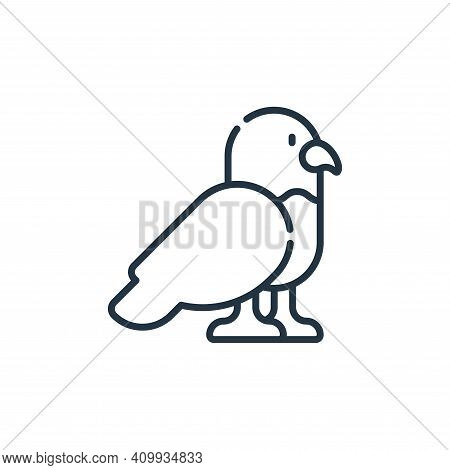 eagle icon isolated on white background from desert collection. eagle icon thin line outline linear