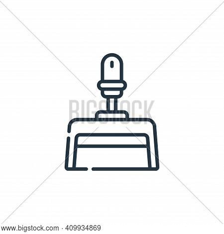 dust pan icon isolated on white background from plastic products collection. dust pan icon thin line