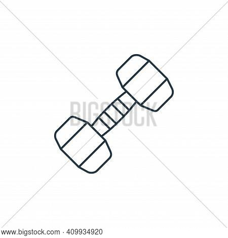 dumbbell icon isolated on white background from fitness collection. dumbbell icon thin line outline
