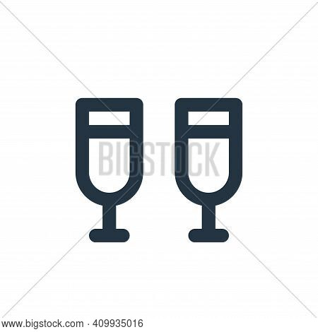 drinks icon isolated on white background from holiday collection. drinks icon thin line outline line