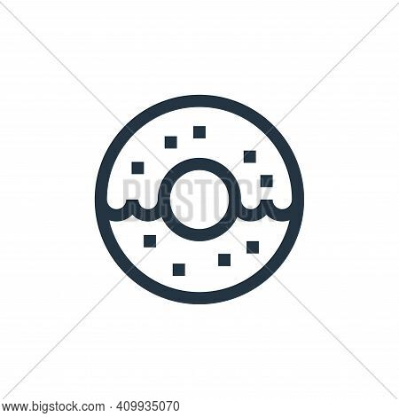 doughnut icon isolated on white background from united states of america collection. doughnut icon t