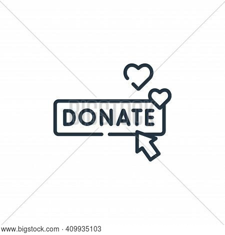 donate icon isolated on white background from kindness collection. donate icon thin line outline lin