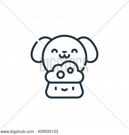 dog food icon isolated on white background from animal welfare collection. dog food icon thin line o