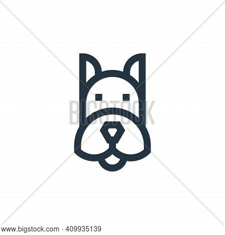 dog icon isolated on white background from mental health collection. dog icon thin line outline line
