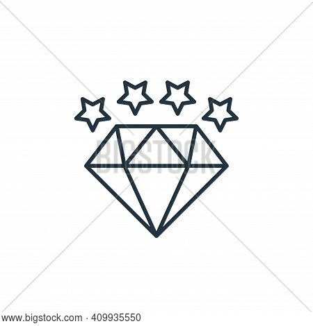 diamond icon isolated on white background from casino collection. diamond icon thin line outline lin