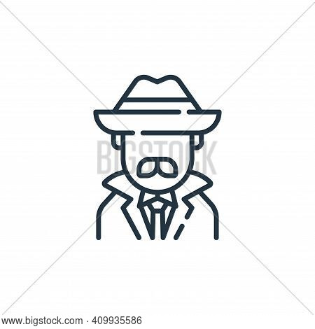 detective icon isolated on white background from england collection. detective icon thin line outlin