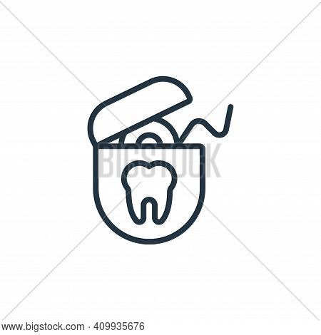 dental floss icon isolated on white background from hygiene collection. dental floss icon thin line