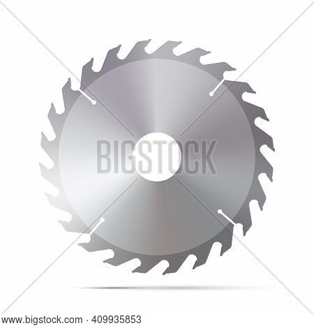 A Circular Saw. 3d Vector Illustration Isolated On White.