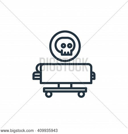 death icon isolated on white background from funeral collection. death icon thin line outline linear