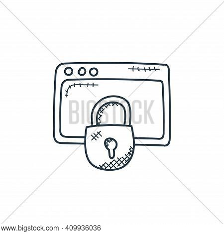 data security icon isolated on white background from technology collection. data security icon thin