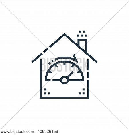 dashboard icon isolated on white background from smarthome collection. dashboard icon thin line outl