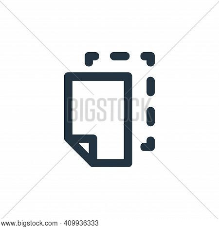 cut icon isolated on white background from user interface collection. cut icon thin line outline lin