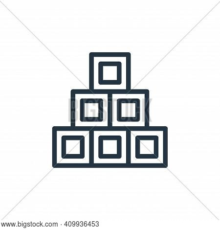 cube icon isolated on white background from school collection. cube icon thin line outline linear cu