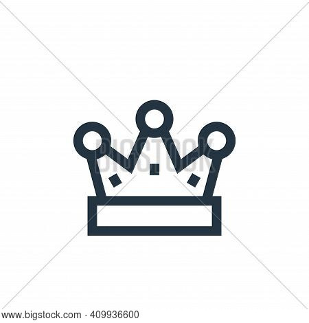 crown icon isolated on white background from video game elements collection. crown icon thin line ou