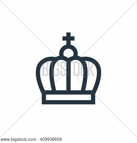 crown icon isolated on white background from holland collection. crown icon thin line outline linear