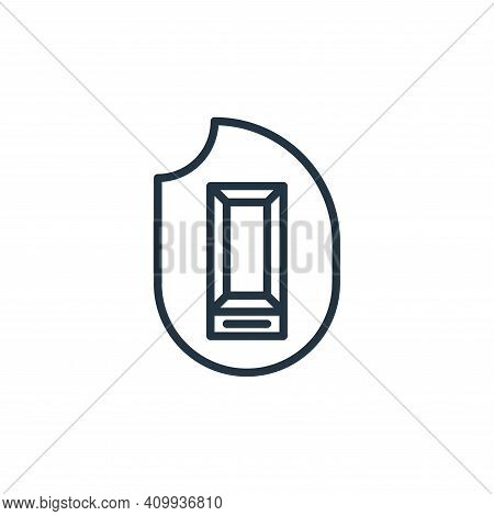 cremation icon isolated on white background from funeral collection. cremation icon thin line outlin