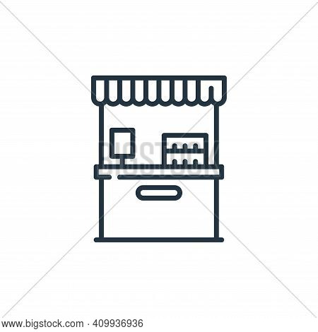 counter icon isolated on white background from mall collection. counter icon thin line outline linea