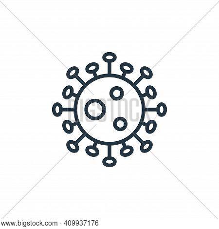 coronavirus icon isolated on white background from pandemic novel virus collection. coronavirus icon