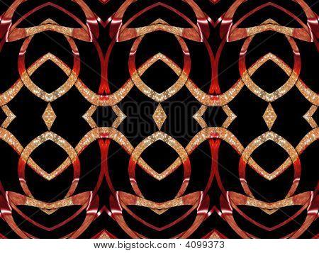 eine Dekoration gold red glamour