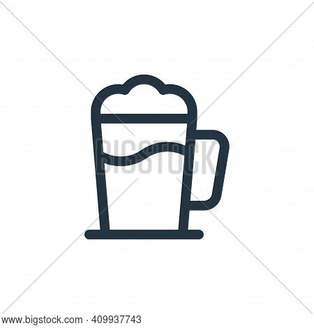 cocoa icon isolated on white background from gastronomy collection. cocoa icon thin line outline lin