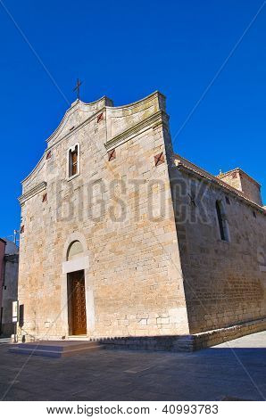 Basilica church of St. Basilio. Troia. Puglia. Italy.