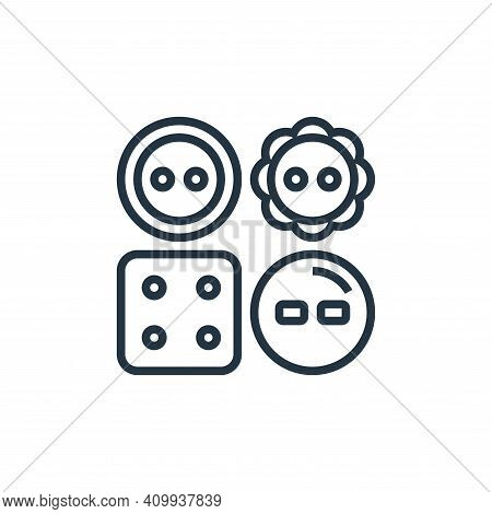 clothes icon isolated on white background from sewing equipment collection. clothes icon thin line o